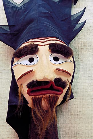 image 2-681-70 South Korea, Hahoe Village, Songpa Sandal Tal mask  Saennim