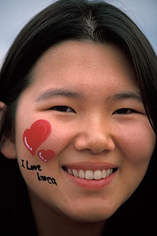 image 2-701-94 South Korea, Andong , Mask Dance Festival, Portrait