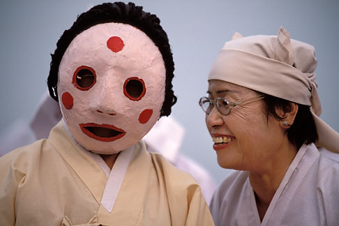image 2-701-96 South Korea, Andong , Mask Dance Festival, Portrait