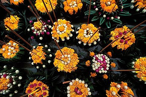 image 8-550-6 Laos, Vientiane, Flowers for Bun Nam river festival