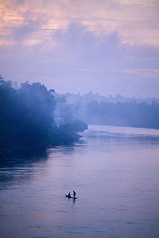 image 8-571-41 Laos, Vientiane Province, Fishermen on the Nam Ngum River