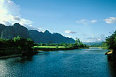 vang vieng stock photography | Laos, Vang Vieng, River view, image id 8-581-60