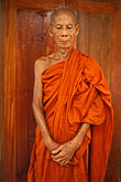 bald stock photography | Laos, Vientiane Province, Buddhist Monk, image id 8-600-1