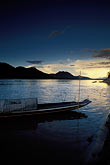 sunset on the mekong river stock photography | Laos, Luang Prabang, On the banks of Mekong River, image id 8-601-95