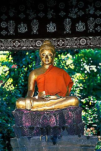 image 8-602-7 Laos, Luang Prabang, Buddha statue, Wat Xieng Thong