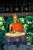 sit stock photography | Laos, Luang Prabang, Buddha statue, Wat Xieng Thong, image id 8-602-7