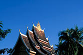 temple roof stock photography | Laos, Luang Prabang, Haw Pha Bang pavilion, image id 8-605-31