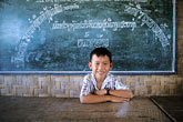 one person stock photography | Laos, Vientiane Province, School, Hinh Heub village, image id 8-630-2