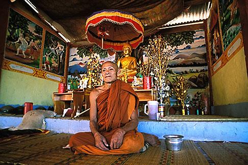 image 8-630-3 Laos, Vientiane Province, Buddhist monk, Hinh Heub village