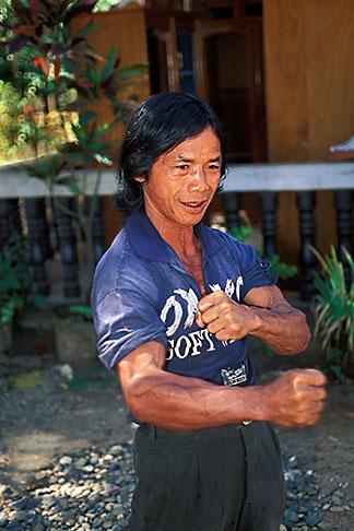 image 8-630-6 Laos, Vientiane Province, Laotian veteran, Hinh Heub village