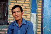 face stock photography | Laos, Phon Kham, Village Elder, image id S3-152-21