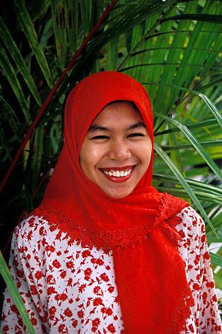 image 7-557-28 Malaysia, Langkawi, Malaysian woman