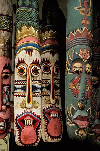image 7-574-34 Malaysia, Malacca, Masks