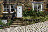 horizontal stock photography | England, Saddleworth, Dobcross Village, Saddlework Bank building, image id 7-690-7062