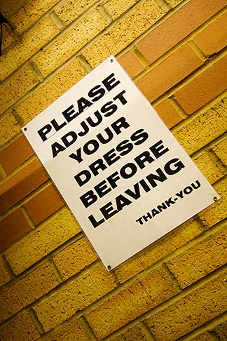 image 7-690-7090 Signs, Please adjust your dress
