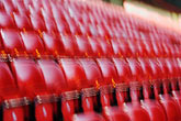 horizontal stock photography | England, Manchester, Old Trafford, Stadium for Manchester United, seats, image id 7-690-7166