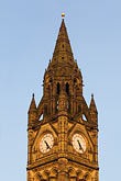vertical stock photography | England, Manchester, Town Hall clock tower, image id 7-690-71899