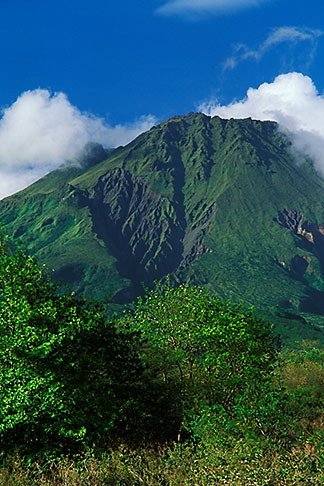 image 8-241-29 Martinique, Le Precheur, View of Mt Pelee volcano