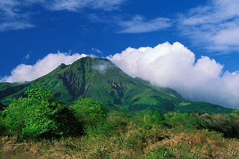 image 8-244-8 Martinique, Le Precheur, View of Mt Pelee volcano
