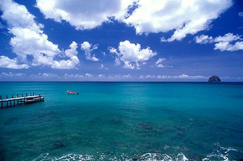 image 8-265-4 Martinique, Le Diamant, Dock and Rocher du Diamant