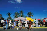 open air market stock photography | Martinique, St. Pierre, Market scene, image id 8-288-13