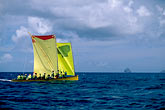 yellow stock photography | Martinique, Yoles rondes racing, image id 8-294-22