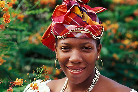 image 8-295-2 Martinique, Martinican woman in traditional dress