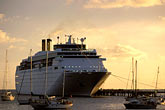 waterfront stock photography | Martinique, Fort de France, Cruise ship at dock, image id 8-300-17