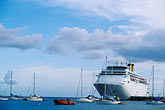 waterfront stock photography | Martinique, Fort de France, Cruise ship at dock, image id 8-305-25