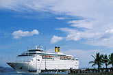 anchorage stock photography | Martinique, Fort de France, Cruise ship at dock, image id 8-305-26