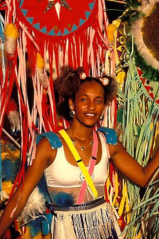 image 9-30-84 Martinique, Carnaval, Dancer in parade