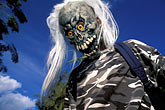 frighten stock photography | Martinique, Carnaval, Skull costume, image id 9-32-60