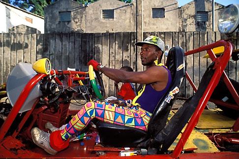 image 9-32-68 Martinique, Carnaval, Car in parade