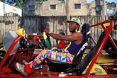 one person stock photography | Martinique, Carnaval, Car in parade, image id 9-32-68