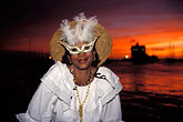 image 9-32-81 Martinique, Carnaval, Masked woman