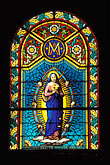 colour stock photography | Martinique, Fort de France, Stained glass, Cath�drale St. Louis, image id 9-50-49