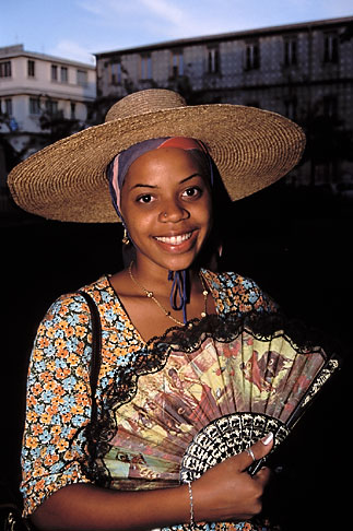 image 9-50-78 Martinique, Carnaval, Woman with hat