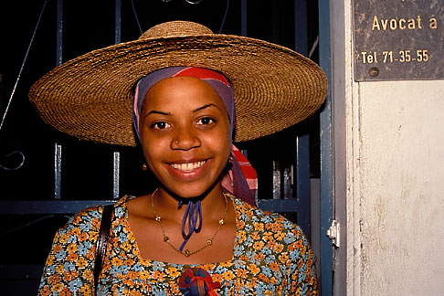 image 9-50-79 Martinique, Carnaval, Woman with hat