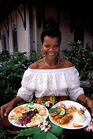 image 9-57-17 Martinique, Plantations, Seafood platters