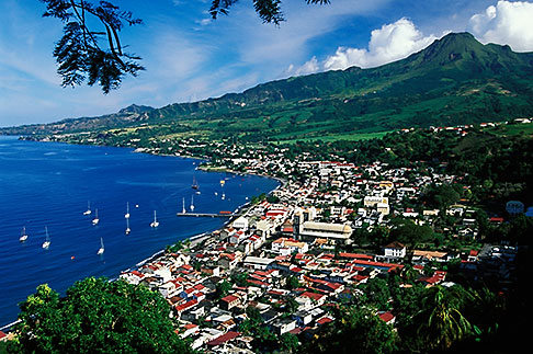 image 9-70-38 Martinique, Saint Pierre, View of town with Mt Pelee