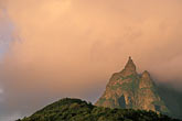 fog stock photography | Mauritius, Morning light on Pieter Both peak, image id 9-200-31