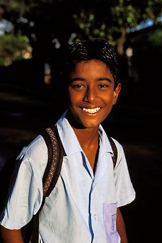 image 9-202-56 Mauritius, Schoolboy