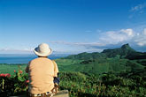 one person stock photography | Mauritius, View  from Domaine du Chasseur estate, image id 9-205-91