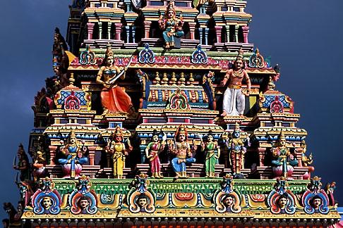 image 9-205-97 Mauritius, Detail, Tamil temple