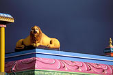 lion statue stock photography | Mauritius, Detail, Tamil temple, image id 9-205-99