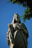 vertical stock photography | Mauritius, Port Louis, Statue of Queen Victoria, Government House, image id 9-210-81