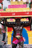 vertical stock photography | Mauritius, Cavadee Festival, Devotee carrying a wooden cavadee, image id 9-221-50