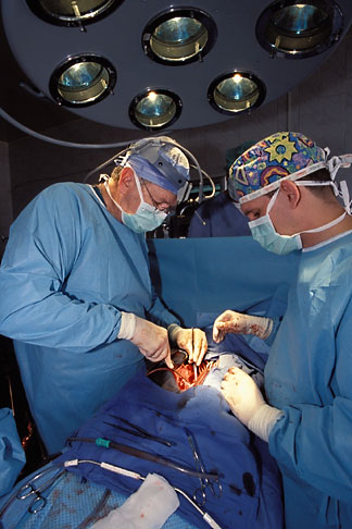 2-760-1  stock photo of Russia, Vladivostok, Open heart surgery