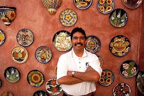 image 0-42-1 Mexico, San Jose del Cabo, Shopkeeper