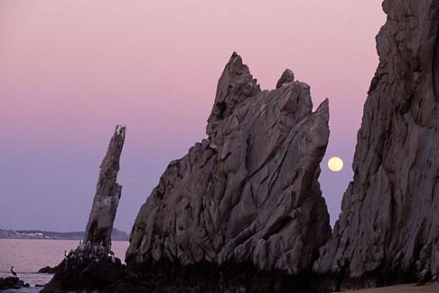 image 0-50-5 Mexico, Cabo San Lucas, Full moon, Lands End